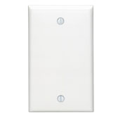 LEV80714-W LEVITON SINGLE GANG BLANK WHITE WALL PLATE