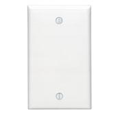 LEV80714-W LEVITON SINGLE GANG BLANK WHITE WALL PLATE