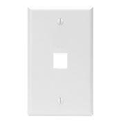 LEV41080-1WP LEVITON 1-PORT FIELD CONFIGURABLE SINGLE GANG WALLPLATE WHITE