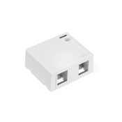 LEV41089-2WP LEVITON 2-PORT SURFACE MOUNT FIELD CONFIGURABLE HOUSING. INCLUDES ONE BLANK FILLER. WHITE