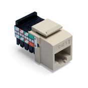 LEV41108-RI5 LEVITON CAT 5 T568A/B WIRING 8 POSITION 8 CONDUCTOR JACK NON-KEYED FITS ENTIRE QUICKPORT LINE IVORY ************************* SPECIAL ORDER ITEM NO RETURNS OR SUBJECT TO RESTOCK FEE *************************