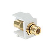 LEV40830-BWE LEVITON RCA JACK W/ BLACK STRIPE WHITE ************************* SPECIAL ORDER ITEM NO RETURNS OR SUBJECT TO RESTOCK FEE *************************