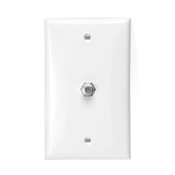LEV80781-T LEVITON FLUSH MOUNT SINGLE F CONNECTOR LT ALMOND