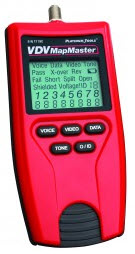 T119C PLATINUM TOOLS VDV MAPMASTER Tests CAT-6, Cat-5e, Cat-5, Cat-4, Cat-3 and coax cables