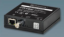 EBRIDGE1PCRX ALTRONIX eBridge plus - Ethernet/PoE or PoE+ over coax receiver module. Supports IP video/data/PoE or PoE+ over coax up to 1,500 ft. Compatible with eBridge1PCT, eBridge1PCTX and devices incorporating sloc technology. UL/cUL Listed (UL60950-1). CE Approved. ************************* SPECIAL ORDER ITEM NO RETURNS OR SUBJECT TO RESTOCK FEE *************************