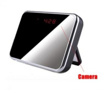 AZCAM-MIRROR AZCO Mirror Digital Clock Covert Camera - MicroSD not included ************************* SPECIAL ORDER ITEM NO RETURNS OR SUBJECT TO RESTOCK FEE *************************
