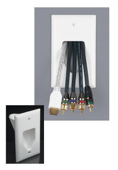 45-0001-IV DATACOMM 1-GANG RECESSED LOW VOLTAGE CABLE PLATE, IVORY ************************* SPECIAL ORDER ITEM NO RETURNS OR SUBJECT TO RESTOCK FEE *************************