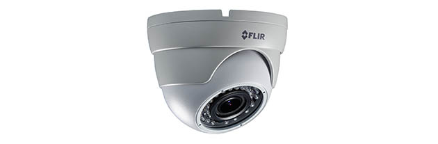 C237EC FLIR MPX Motorized VF Eyeball Dome, 1.3MP/960H Dual Output, WDR, OSD, 2.8-12mm, IR LED's, 12/24V