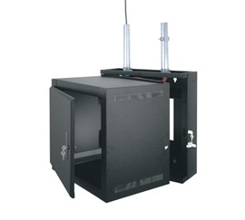 EWR-10-22SD MIDATL 10 SPACE (17 1/2 ) ECONO SECTIONAL WALL RACK WITH SOLID FRONT DOOR, FITS 20 DEEP EQUIP., BLACK FINISH ************************* SPECIAL ORDER ITEM NO RETURNS OR SUBJECT TO RESTOCK FEE *************************