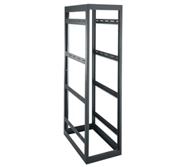 """MRK-4436LRD MIDDLE ATLANTIC 44 SPACE (77""""), 36"""" DEEP GANGABLE RACK WITHOUT REAR DOOR, BLACK FINISH ************************* SPECIAL ORDER ITEM NO RETURNS OR SUBJECT TO RESTOCK FEE *************************"""