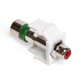 LEV40782-RRW LEVITON QUICKPORT RCA CONNECTOR ************************* SPECIAL ORDER ITEM NO RETURNS OR SUBJECT TO RESTOCK FEE *************************
