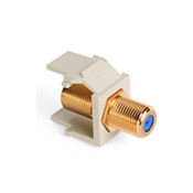 LEV40831-BI LEVITON GOLD F CONNECTOR IVORY ************************* SPECIAL ORDER ITEM NO RETURNS OR SUBJECT TO RESTOCK FEE *************************