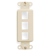 LEV41643-T LEVITON 3 PORT DECORA INSERT - LT ALMOND ************************* SPECIAL ORDER ITEM NO RETURNS OR SUBJECT TO RESTOCK FEE *************************