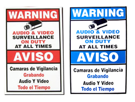 LA06 SURVEILLANCE CAMERAS ON DUTY SIGNS 9X6 ************************* SPECIAL ORDER ITEM NO RETURNS OR SUBJECT TO RESTOCK FEE *************************