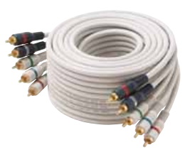 254-606IV STEREN 6' IVORY COMPONENT VIDEO AUDIO