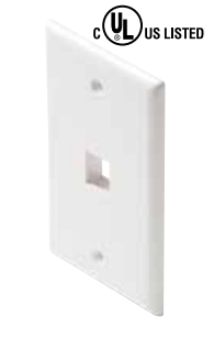 310-201WH STEREN WALL PLATE 1 PORT WHITE