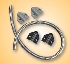 "TSB-C SECURITRON DOOR CORD WITH GRAY AND BLACK CAPS 18"" CORD"