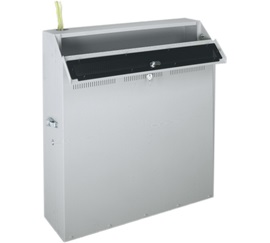 """WRP-4 MIDATL 4 SP. LOW PROFILE WALL RACK, 23"""" USEABLE DEPTH 150 LBS CAPACITY W/ PLEXI WINDOW TOP, PUTTY FINISH ************************* SPECIAL ORDER ITEM NO RETURNS OR SUBJECT TO RESTOCK FEE *************************"""