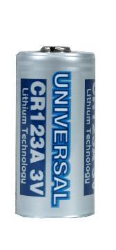 UB-CR123A UPG 3.0V CR123A LITHIUM CELL (1550mAh) 88005