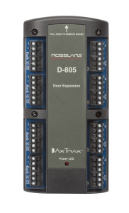D-805 ROSSLARE D-805 - Door Expansion Board (4 x Wiegand Readers, 4 x 5A Form C Relay Outputs, 8 x Supervised Analog Inputs)