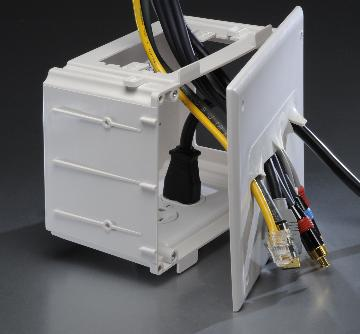 45-0010-WH DATACOMM RECESSED MEDIA BOX, WHITE ************************* SPECIAL ORDER ITEM NO RETURNS OR SUBJECT TO RESTOCK FEE *************************