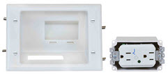 45-0081-WH DATACOM RECESSED LOW VOLTAGE MID-SIZE PLATE WITH DUPLEX SURGE SUPPRESSOR ************************* SPECIAL ORDER ITEM NO RETURNS OR SUBJECT TO RESTOCK FEE *************************
