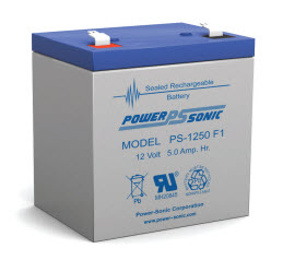 PS-1250F1 POWERSONIC 5.0 AMP HOUR