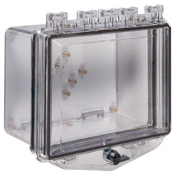 STI-7511A STI POLYCARBONATE COVER WITH ENCLOSED DEEP BACKBOX AND EXTERIOR THUMB LOCK ************************* SPECIAL ORDER ITEM NO RETURNS OR SUBJECT TO RESTOCK FEE *************************