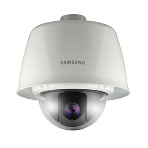 "SNP-3120VH SAMSUNG MINI PTZ Outdoor Network Vandal Resistant Network Vandal Resistant PTZ Dome, 1/4"" CCD, 12X Network PTZ camera, H.264, 580 TV Lines, 360 Endless Pan, 190 Tilt, True Day Night, 30fps@4CIF, 24 VAC, hPoE (IEEE802.3AT), IP66, Sunshield Included ************************* SPECIAL ORDER ITEM NO RETURNS OR SUBJECT TO RESTOCK FEE *************************"