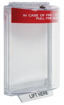 STI-13010FR STI Universal Stopper Dome Cover w/Fl Mt, Red Housing, Fire Label