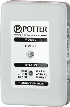 EVD-1 POTTER ATM/SAFE SINGLE ZONE VIBRATION SENSOR ************************* SPECIAL ORDER ITEM NO RETURNS OR SUBJECT TO RESTOCK FEE *************************