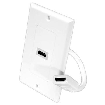 PHDK8 PYLE HDMI WHITE WALL PLATE WITH PIGTAIL/CABLE ************************* SPECIAL ORDER ITEM NO RETURNS OR SUBJECT TO RESTOCK FEE *************************