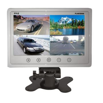 """PLHRQD9W PYLE 9"""" LCD MONITOR WITH BUILT IN QUAD WHITE ************************ SPECIAL ORDER ITEM NO RETURNS OR SUBJECT TO RESTOCK FEE *************************"""