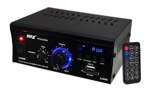 PCAU25A PYLE MINI 2 CHANNEL AMP WITH USB ************************* SPECIAL ORDER ITEM NO RETURNS OR SUBJECT TO RESTOCK FEE *************************