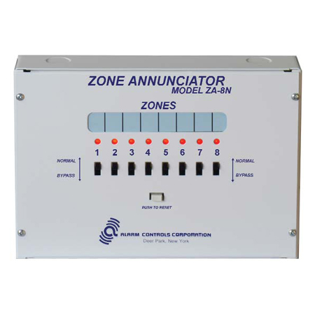 ZA-8N ALARM CONTROLS EIGHT ZONE ANNUNCIATORIATOR FOR ALL MONITORING APPLICATIONS ************************* SPECIAL ORDER ITEM NO RETURNS OR SUBJECT TO RESTOCK FEE *************************