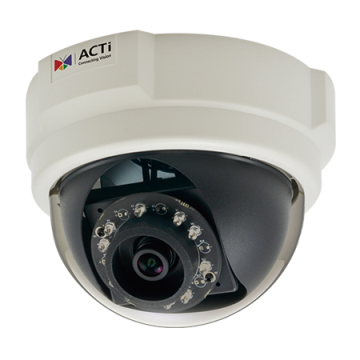 E56 ACTi 3MP Indoor Dome with D/N, IR, Superior WDR, Fixed lens, f2.93mm/F2.0, H.264, 1080p/30fps, DNR, PoE ************************* SPECIAL ORDER ITEM NO RETURNS OR SUBJECT TO RESTOCK FEE *************************