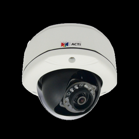 E76 ACTi 2MP Outdoor Dome with D/N, Adaptive IR, Basic WDR, SLLS, Fixed lens, f3.6mm/F1.85, H.264, 1080p/30fps, DNR, Audio, MicroSDHC/MicroSDXC, PoE, IP67, IK10, DI/DO ************************* SPECIAL ORDER ITEM NO RETURNS OR SUBJECT TO RESTOCK FEE *************************