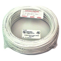 0222A2-B1-9 ALLSTAR 22/2 SOLID, WHITE BURG CABLE, 1000 BOX