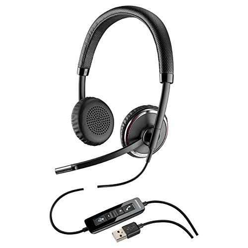 PLN-88861-01 PLANTRONICS C520 BLACKWIRE CORDED USB STEREO HEADSET W/CALL ANSWER/END/MUTE & VOLUME BINAURAL