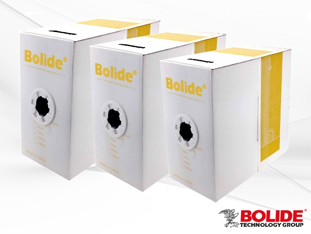 BP0033/Cat5e-yellow BOLIDE 1000Ft Cat5E cable, CCA, yellow color [75 boxes per pallet]