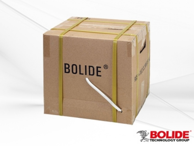 BP0033/C-E BOLIDE Professional Grade 500 Ft. UL listed Zip Cable, White. RG59+18/2, 95% Copper. [96 boxes per pallet]