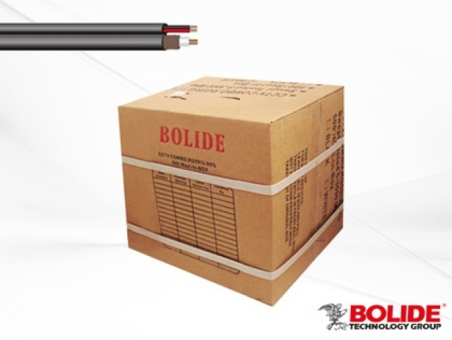 BP0033/CB1000-E BOLIDE Professional Grade UL listed 1000 Ft. Zip Cable, Black. RG59+18/2, 95% Copper. [54 boxes per pallet]