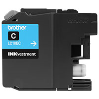 BRT-LC10EC BROTHER SUPER HIGH YIELD CYAN INK CARTRIDGE FOR USE WITH MFCJ6925DW (1200 PG YIELD)