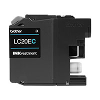 BRT-LC20EC BROTHER SUPER HIGH YIELD CYAN INK CARTRIDGE (1200 PG YIELD)