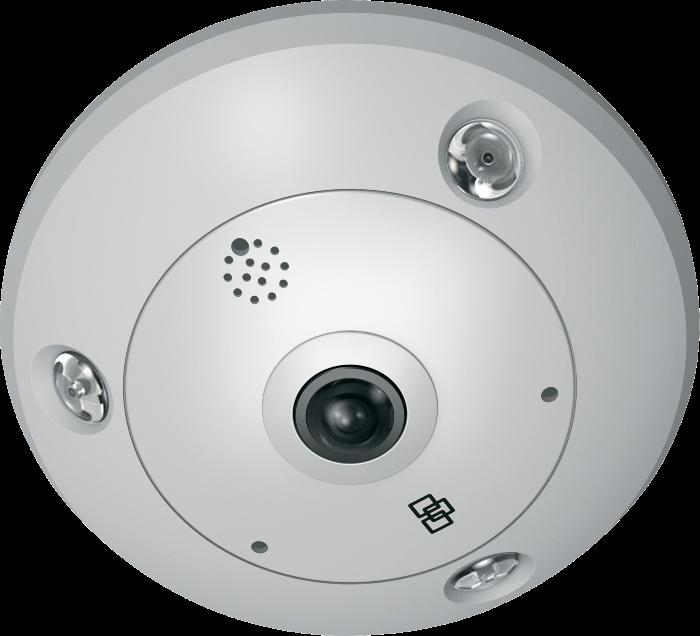 TVF-3102 UTC TruVision 360 Degree IP Dome, 3.0MP, WDR, 1.19mm fisheye lens, true D/N, 10m IR, 2 way audio (built-in mic & speaker), SD/SHDC slot, POE (803.af)/12VDC, IP66, IK10