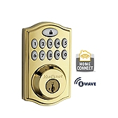 99140-001 KWIKSET 914TRL SMARTCODE DEADBOLT WITH HOME CONNECT POLISHED BRASS