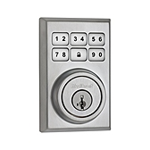 99100-012 KWIKSET SATIN CHROME CONTEMPORARY STYLE DEADBOLT ************************** CLEARANCE ITEM- NO RETURNS *****ALL SALES FINAL****** **************************
