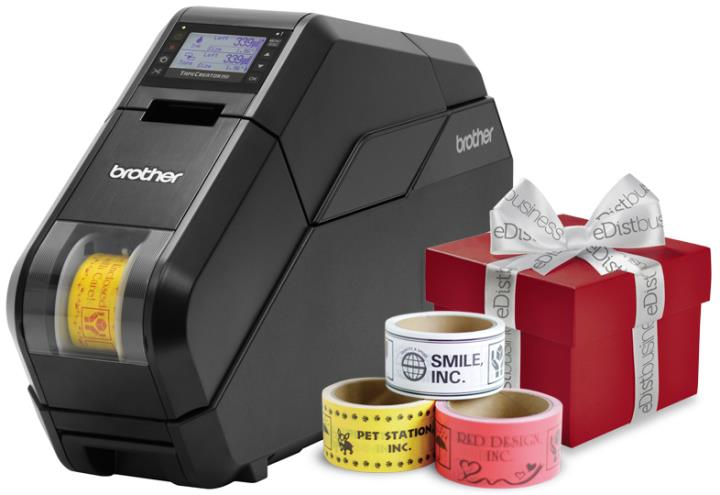BRT-TAPECREATORCOMBO BROTHER FABRIC RIBBON & TAPE COMBO BUNDLE,INCLUDES TPM5000N, 1 MCPP3WH 50MM WHITE BASE TAPE, 1 RBPP3BK 50MM BLACK INK RIBBON(FOR TAPES), 1 MCFA1WH 15MM WHITE FABRIC RIBBON, 1 RBFA1BK 15MM BLACK FABRIC INK RIBBON, 1 RBFA1RD 15MM RED FABRIC INK RIBBON, 36 CR3L 50MM CORES, 36 CR1L 15MM CORES