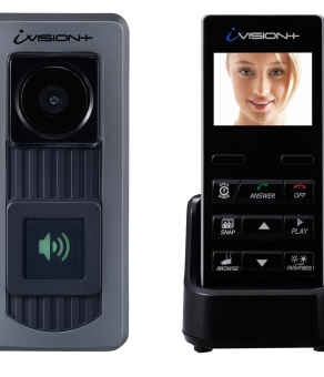 IVP-DH OPTEX IVISION+ WIRELESS 2-WAY VIDEO INTERCOM SYSTEM (W/DOOR STATION & HANDHELD COMMUNICATOR)