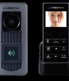 IVP-DH OPTEX IVISION+ WIRELESS 2-WAY VIDEO INTERCOM SYSTEM (W/DOOR STATION & HANDHELD COMMUNICATOR)